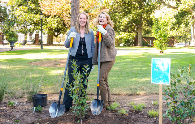 First Lady Kristin Cooper Reveals a Bird and Pollinator-Friendly Garden at the Executive Mansion