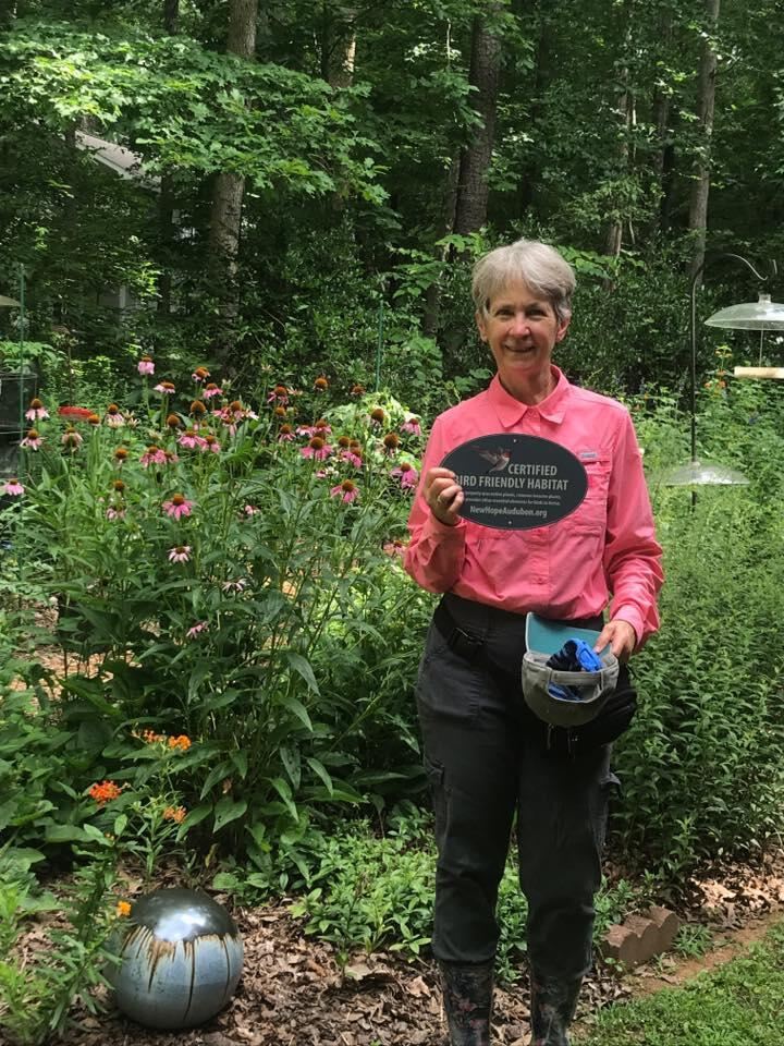 New Hope Audubon bird-friendly yard ceritfication.
