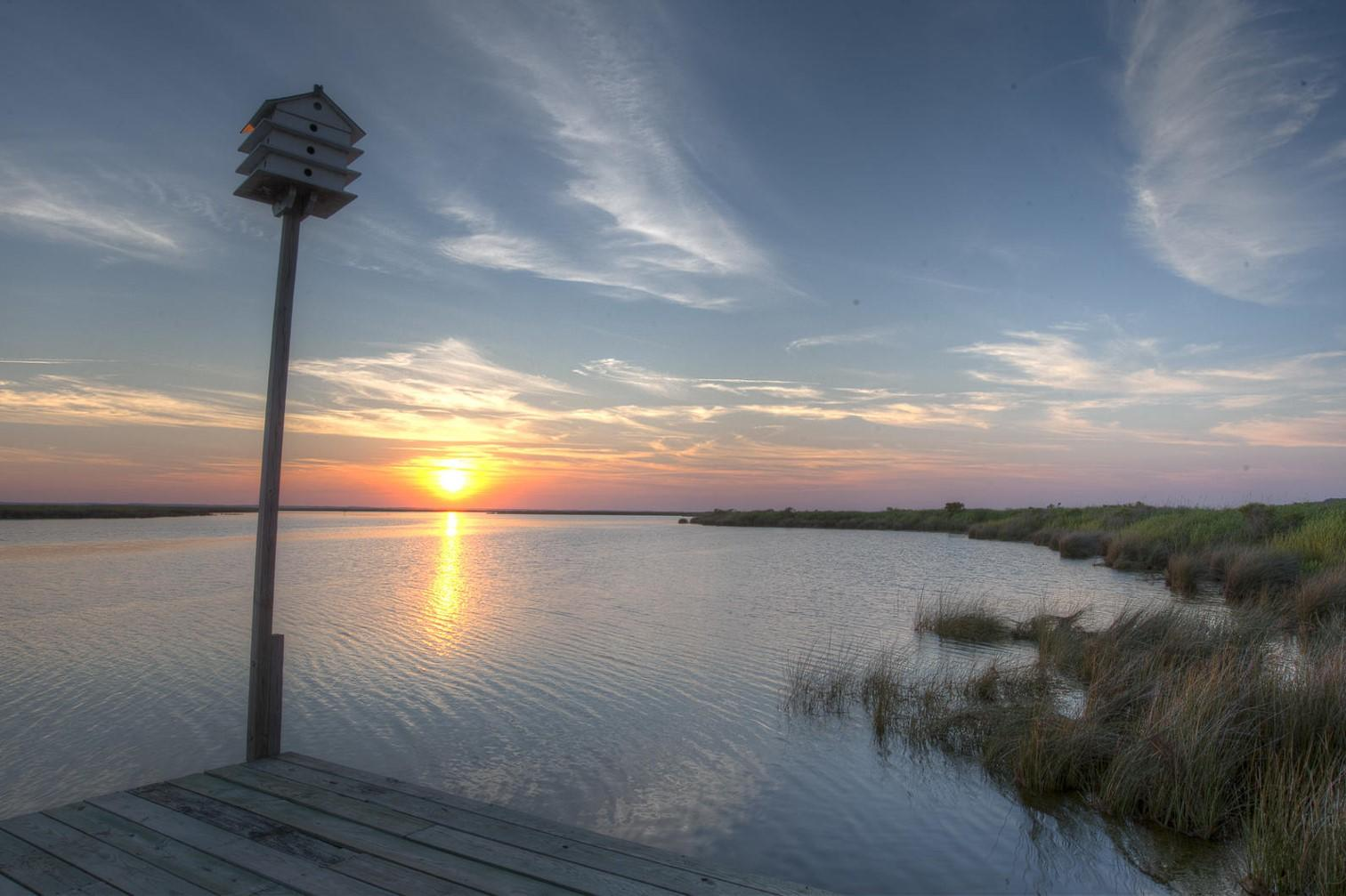 Currituck Sound and Audubon's Donal C. O'Brien, Jr. Sanctuary at Pine Island.