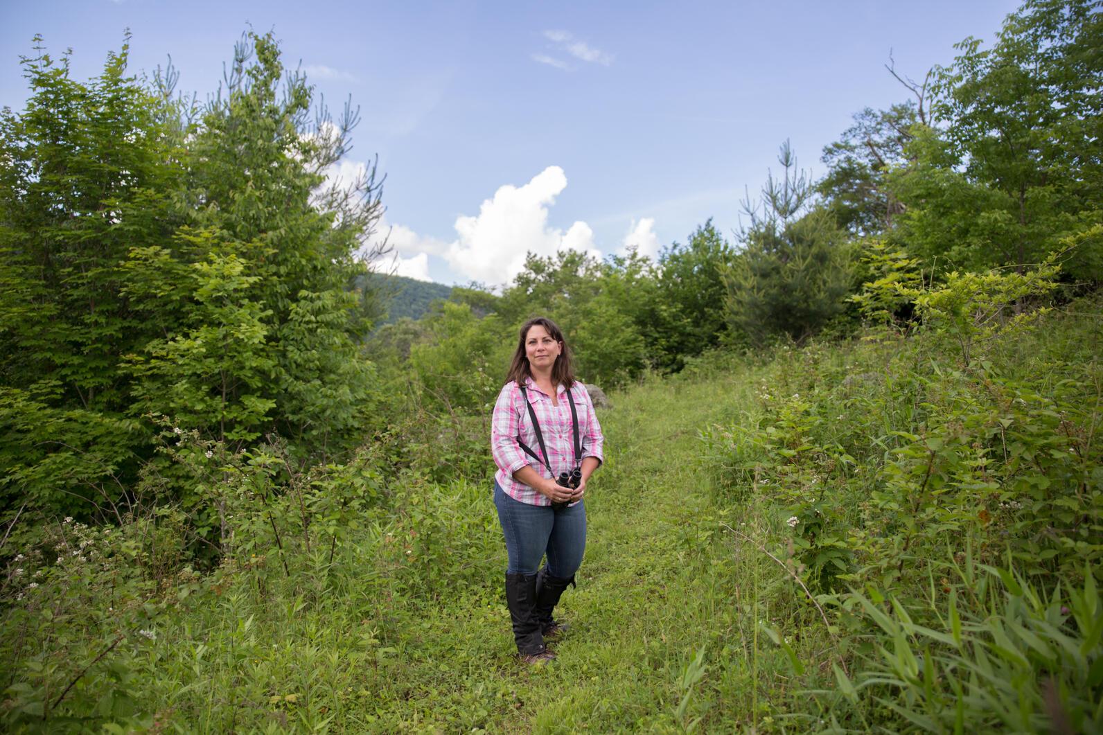 Audubon Conservation Biologist Aimee Tomcho.